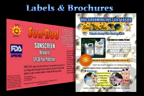 Brochures, and Product Labels